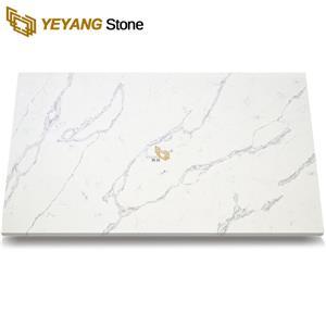 Artificial White Quartz Stone Countertops Big Slabs - F6003