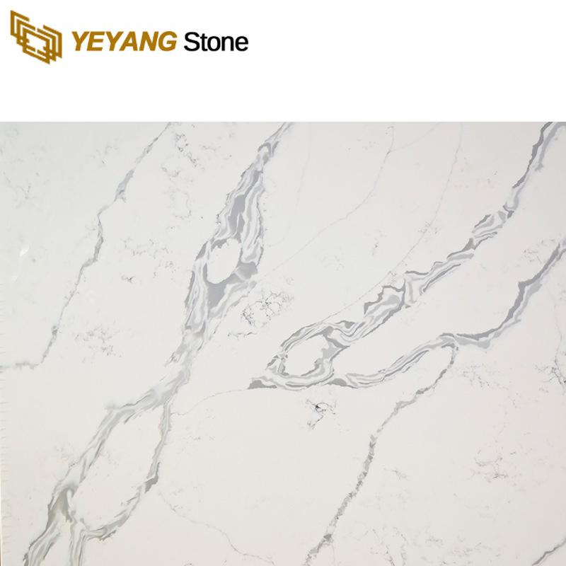Artificial White Quartz Stone Countertops Big Slabs - F6003 Manufacturers, Artificial White Quartz Stone Countertops Big Slabs - F6003 Factory, Supply Artificial White Quartz Stone Countertops Big Slabs - F6003