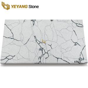 Black Vein Calacatta Artificial Countertop Quartz Stone Slab A5025