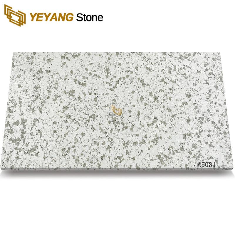 Artificial Quartz Stone Kitchen Quartz White Spring Calacatta Quartz Slabs A5031
