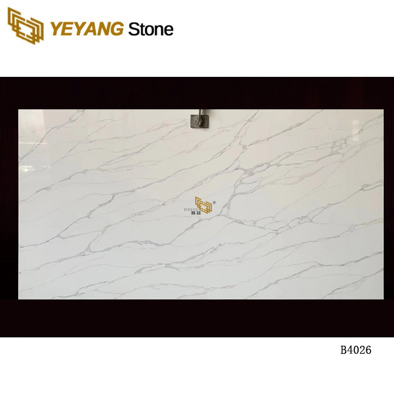 White Quartz For Flooring Tile Artificial Quartz Stone -B4026
