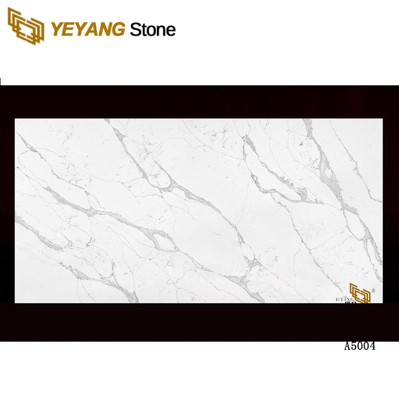 Hot Selling Custom Quartz Carrara White Veins Grey Quartz Stone For Countertop - A5004