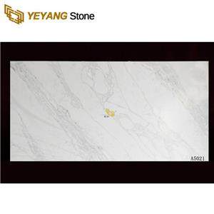 Sparkle White Quartz Big Artificial Quartz Stone Slab A5021