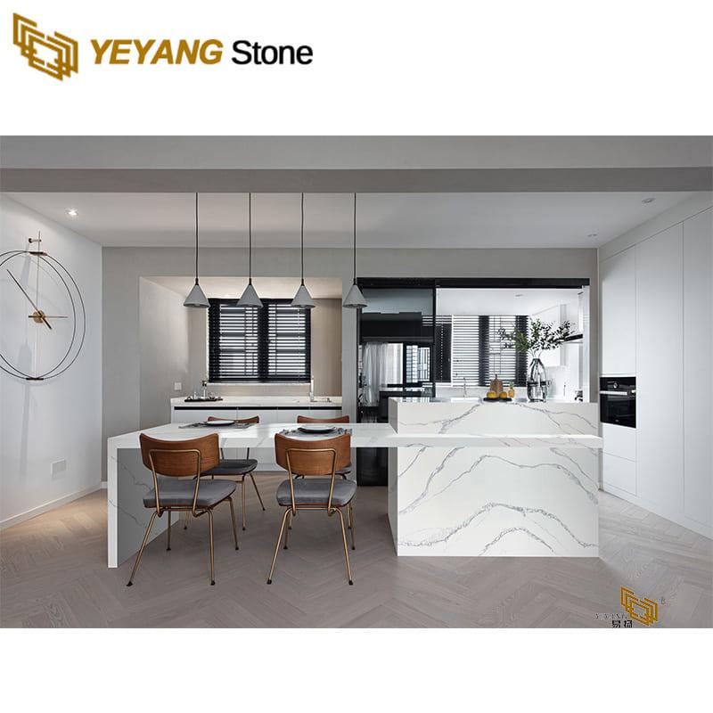 Engineered quartz countertops white quartz kitchen countertops