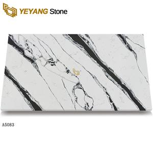 Quartz slab Chinese landscape painting inspiration quartz stone for countertops A5083