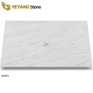 Grey quartz white countertops quartz slab calacatta quartz backsplash A5084