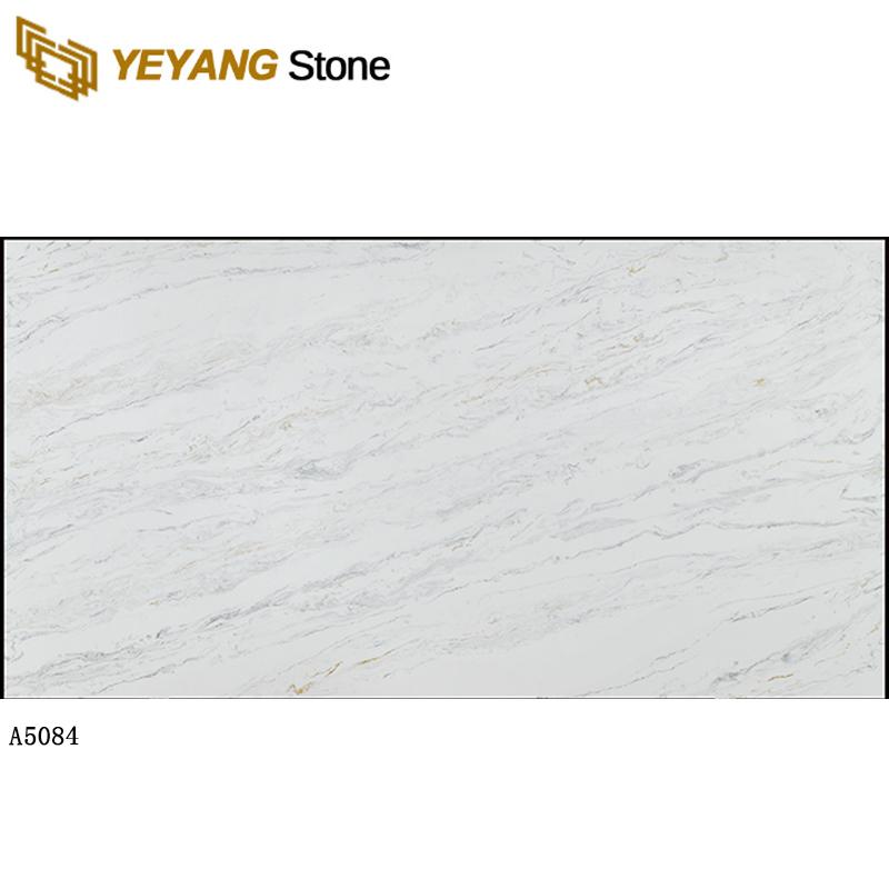 Grey quartz white countertops quartz slab calacatta quartz backsplash A5084 Manufacturers, Grey quartz white countertops quartz slab calacatta quartz backsplash A5084 Factory, Supply Grey quartz white countertops quartz slab calacatta quartz backsplash A5084