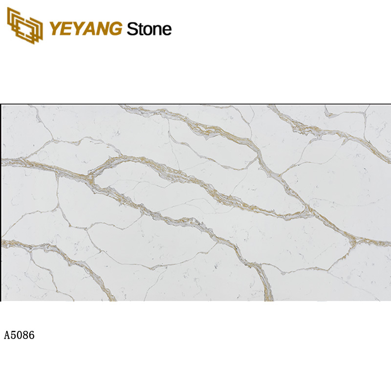 Calacatta gold quartz white marble look quartz slab tiles A5086 Manufacturers, Calacatta gold quartz white marble look quartz slab tiles A5086 Factory, Supply Calacatta gold quartz white marble look quartz slab tiles A5086