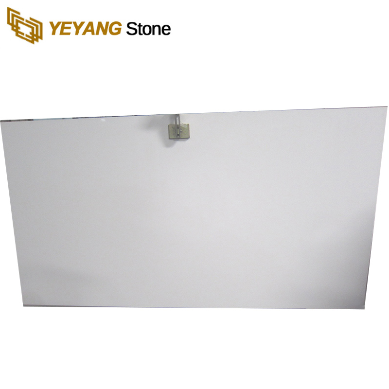 Big Size Artificial Engineered Pure White Quartz Stone Slabs for Countertops
