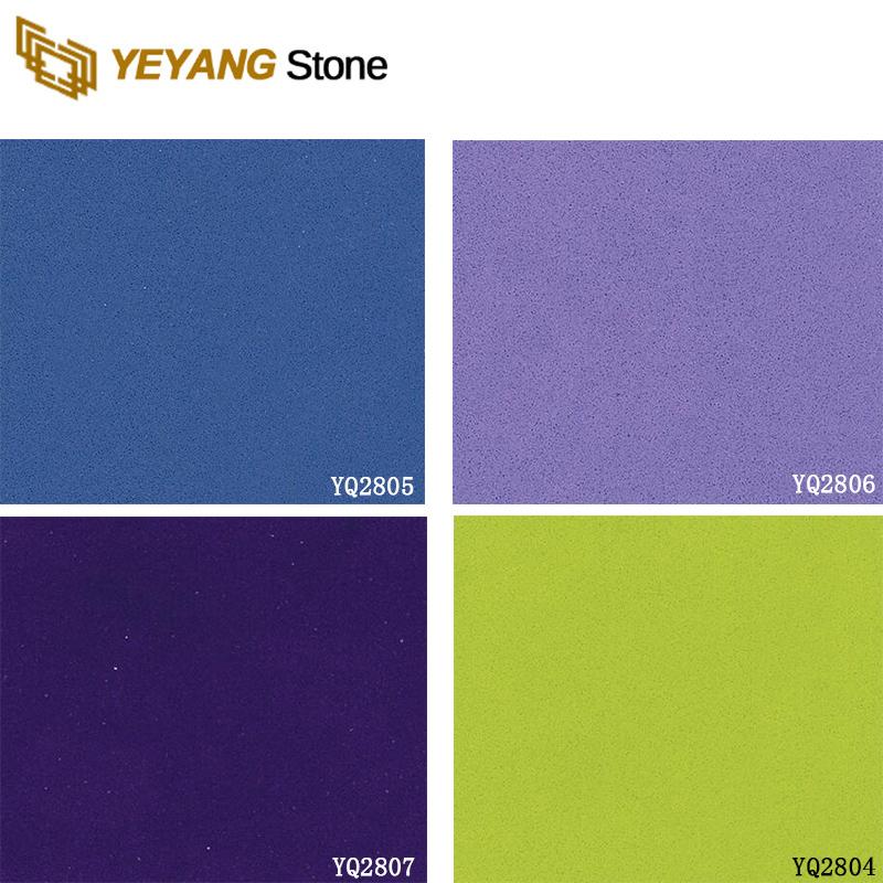 Cut To Size Artificial Sparkle Quartz Tile Colorful Quartz Tiles