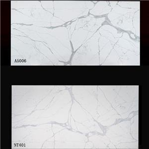 Calacatta White Quartz Slab NT401 VS A5006