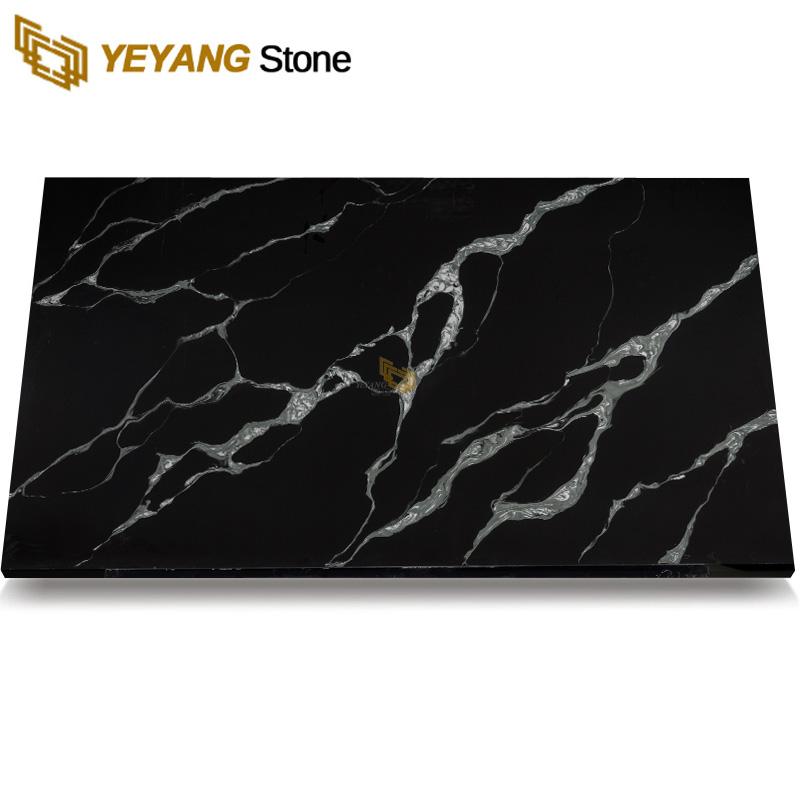 Black Calacatta Quartz Stone Slab NT415