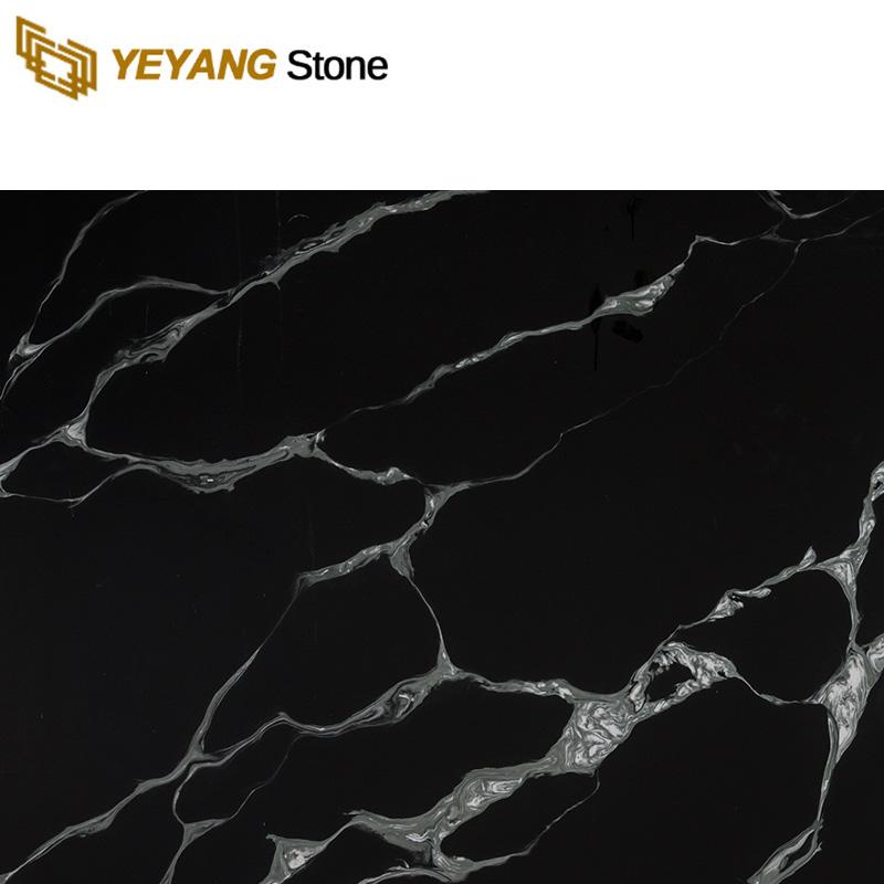 Black Calacatta Quartz Stone Slab NT415 Manufacturers, Black Calacatta Quartz Stone Slab NT415 Factory, Supply Black Calacatta Quartz Stone Slab NT415