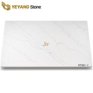 Artificial Stone polished calacatta quartz slab NT301-1