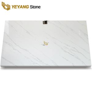Artificial Stone White Quartz with Grey Vein B4047
