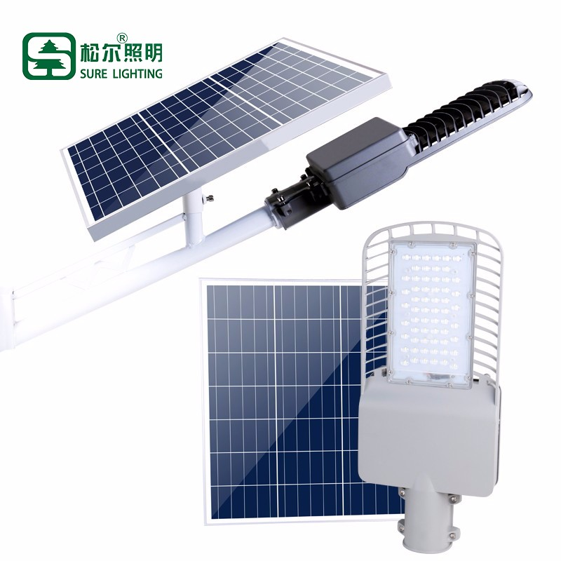 60W 90W Photocell Solar Led Street Light With Remote Control