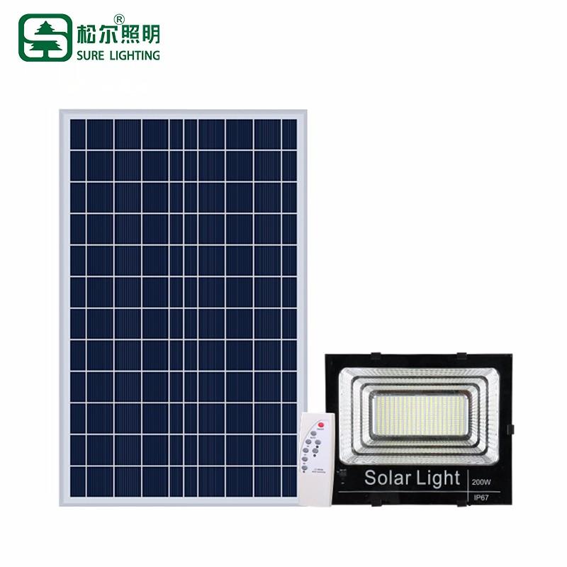 Projecteur à LED solaire étanche 100w extérieur Bridgelux