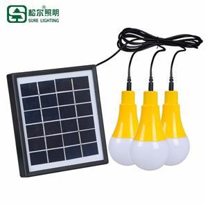 Lumière d'ampoule menée solaire extérieure imperméable portative d'IP65 5w