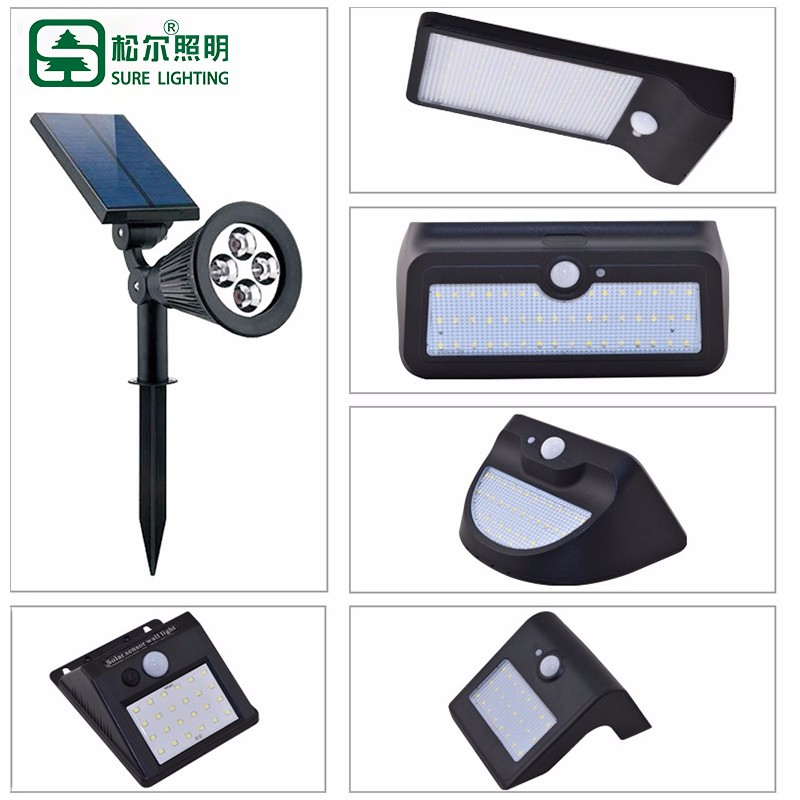 Garden Motion Activated Solar Powered Led Wall Light