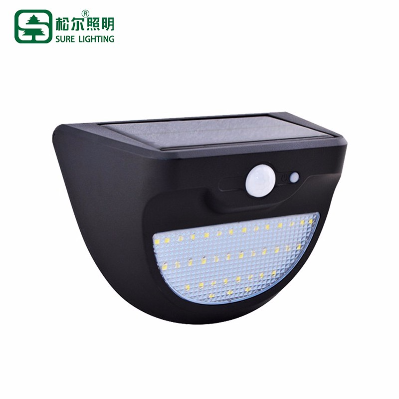 Solar Powered Outdoor Led Wall Light With Pir Sensor