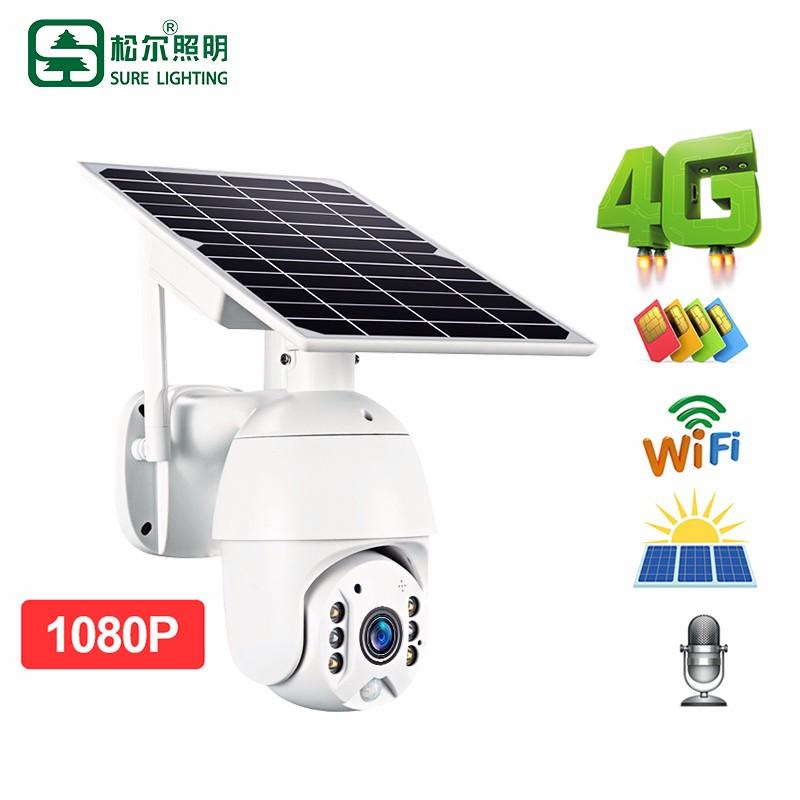 Caméra de surveillance vidéo CCTV Caméra solaire extérieure 4g Wifi
