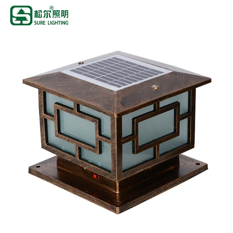 3w solar pillar light