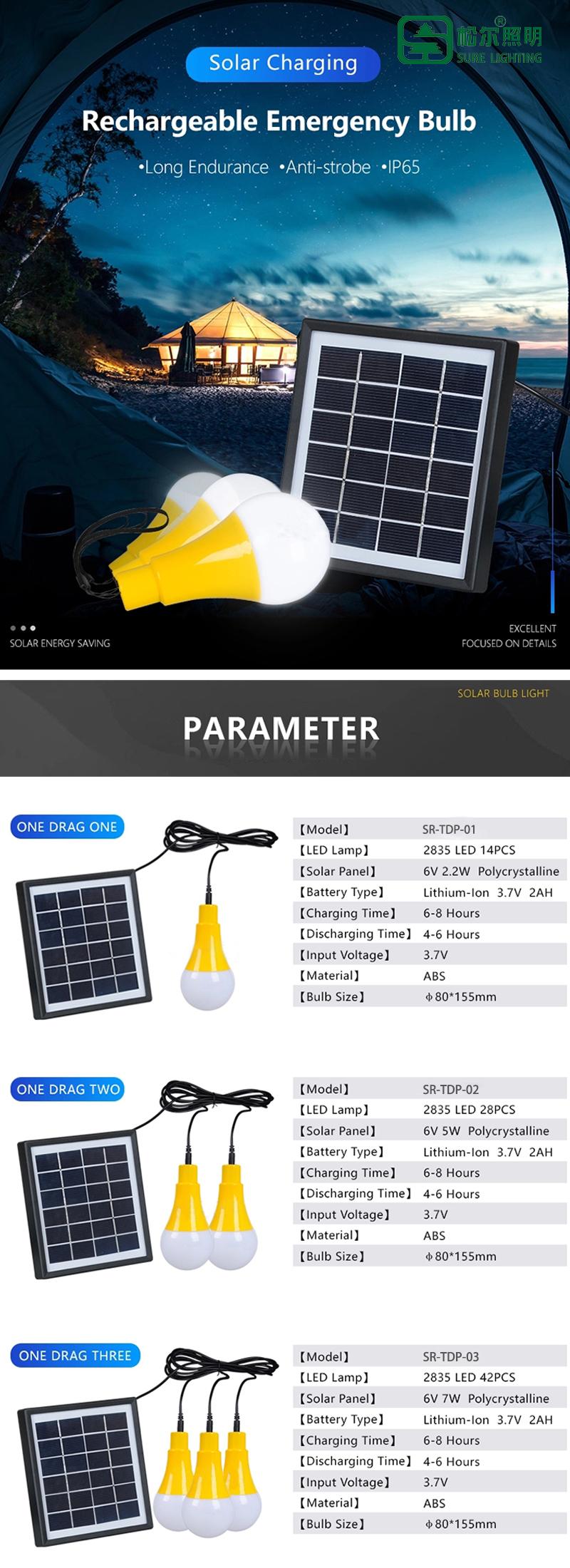 solar LED bulb ligh