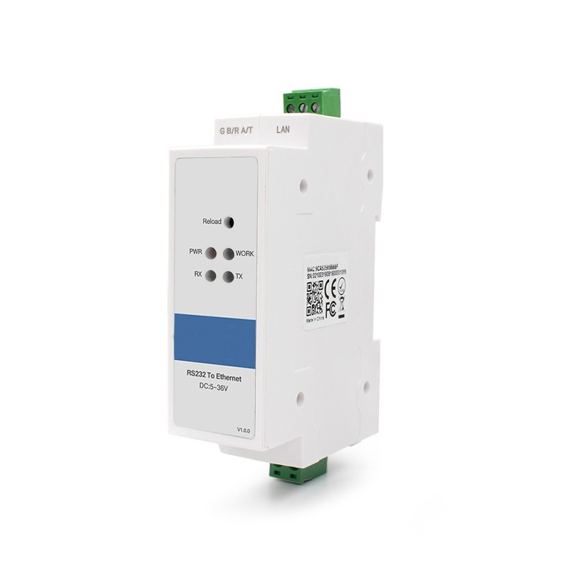 Din Rail RS232 To Ethernet Converters Model: ST-TCP-DR311
