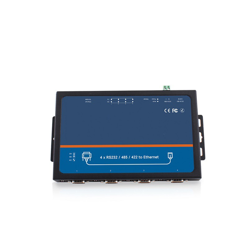 4 Ports Serial To Ethernet Converters Model: ST-TCP540i