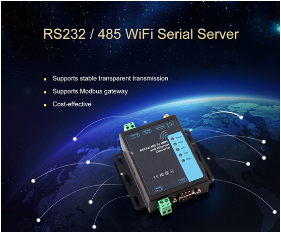 serial to wifi and ethernet converter