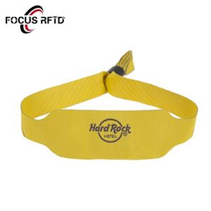Woven RFID wristband for hotel