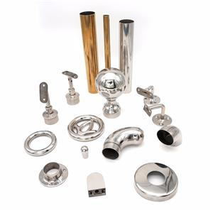 Interior Stainless Steel Stair Pipe Railings Fittings