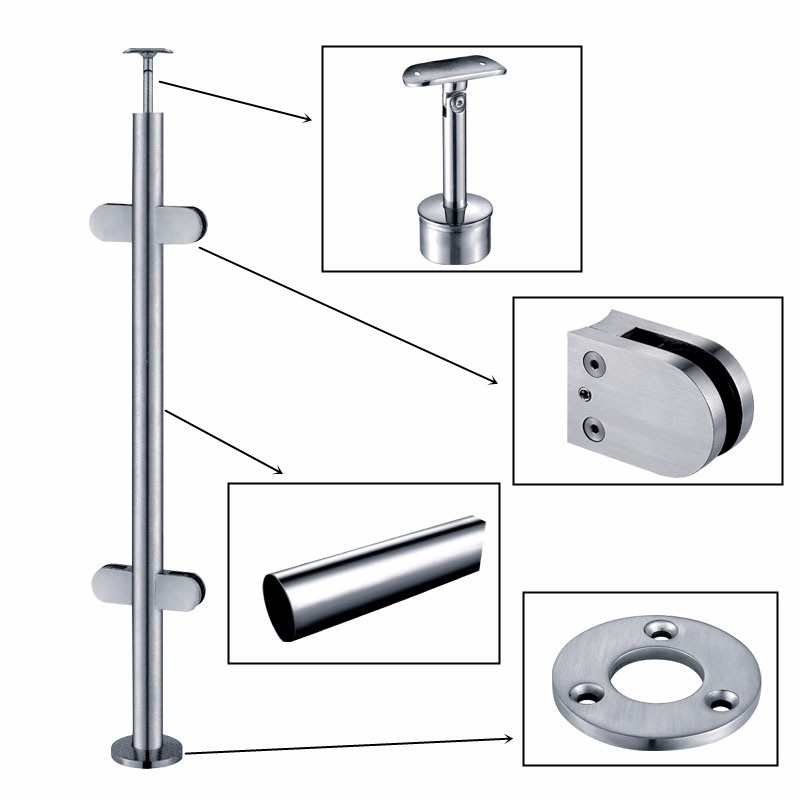 Stainless Steel And Glass Balustrade Fittings Manufacturers, Stainless Steel And Glass Balustrade Fittings Factory, Supply Stainless Steel And Glass Balustrade Fittings