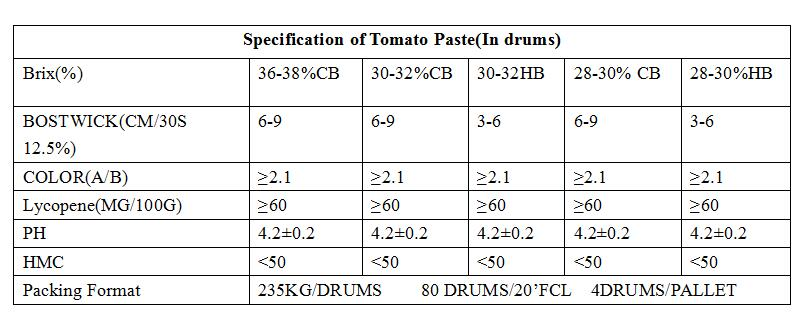 30-32% drum tomato paste