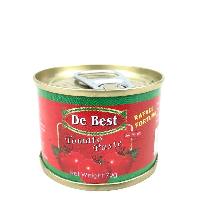 70g de molho de tomate em pasta de tomate enlatado