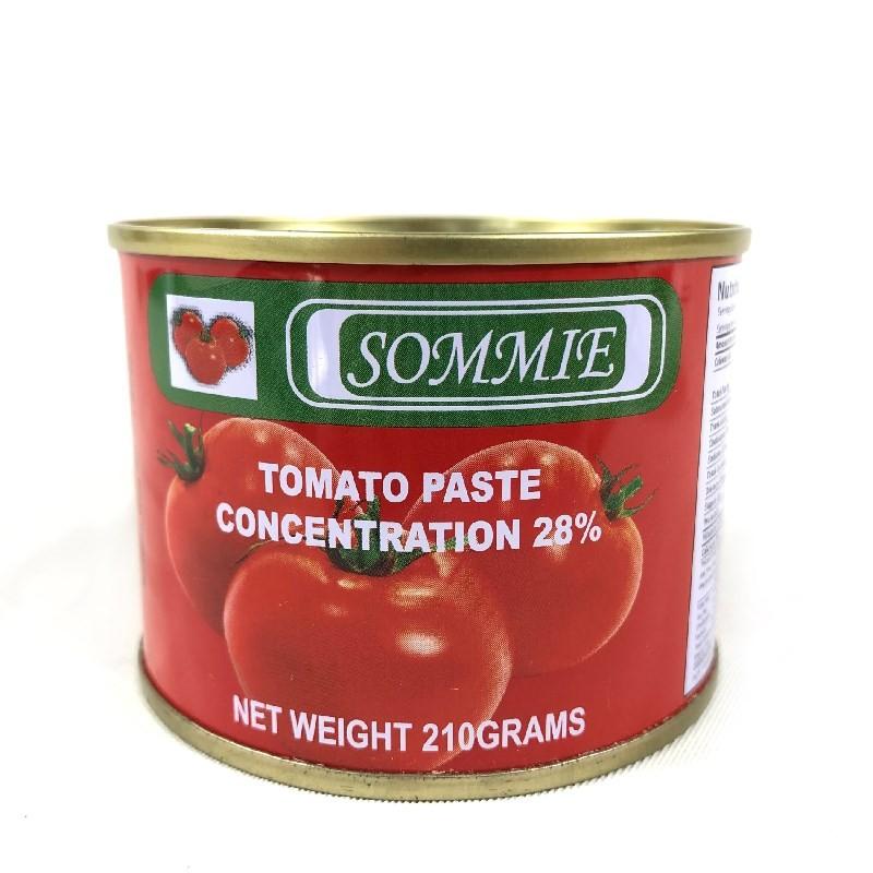 210g de molho de tomate em pasta de tomate enlatado