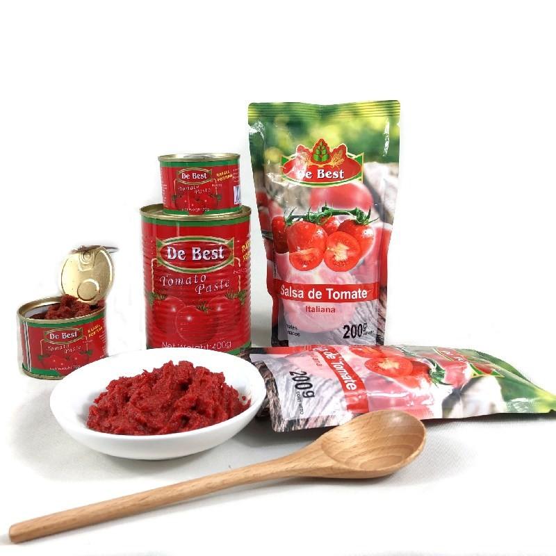 400g de molho de tomate em pasta de tomate enlatado