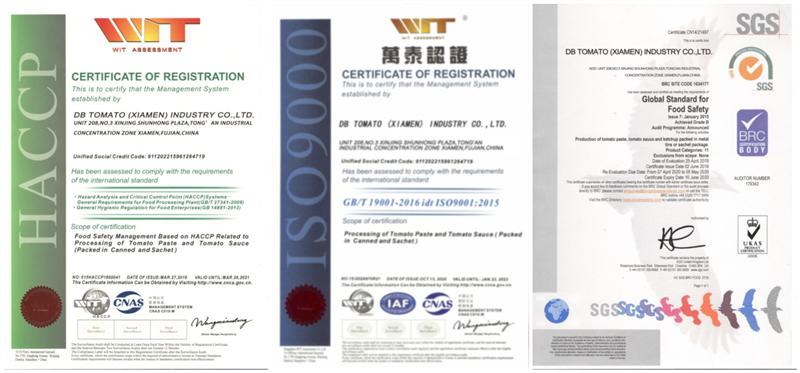 Certificado HACCP / ISO / BRC