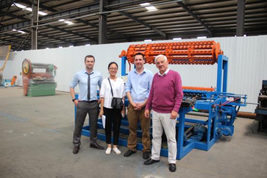 Irish customers visit the factory