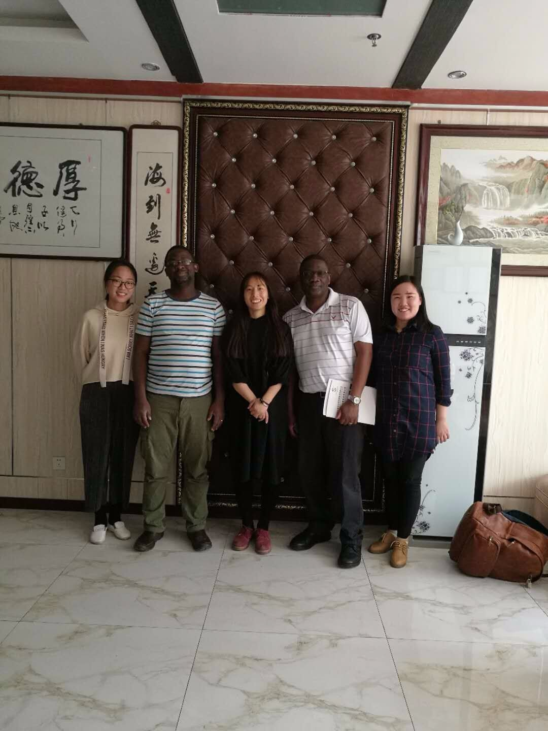 Customer from Uganda came to China to visit our company