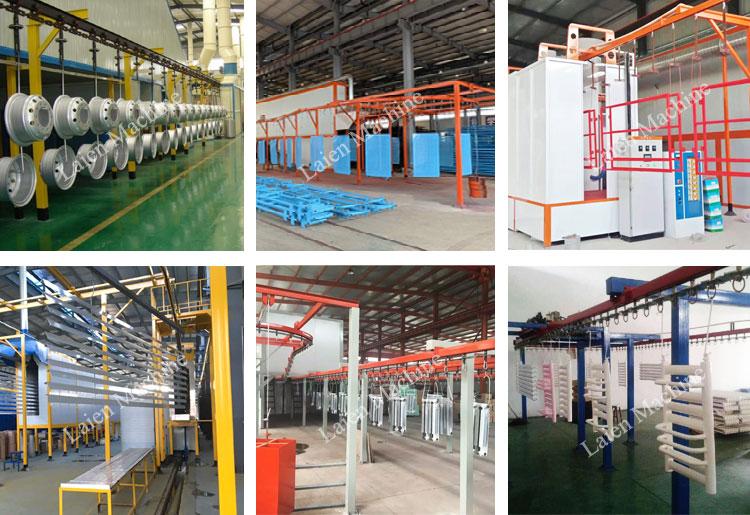 Guard rail powder coating line