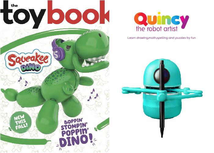 Quincy is gepubliceerd in het februarinummer van THE TOY BOOK