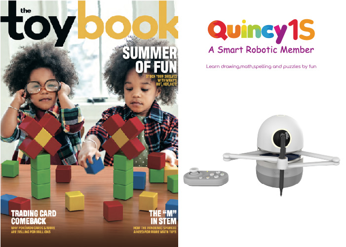 Quincy 1S is gepubliceerd in het juninummer van THE TOY BOOK