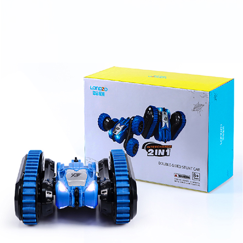 Wireless 360 Spin Double Side Remote Car Toy Blue For Kids