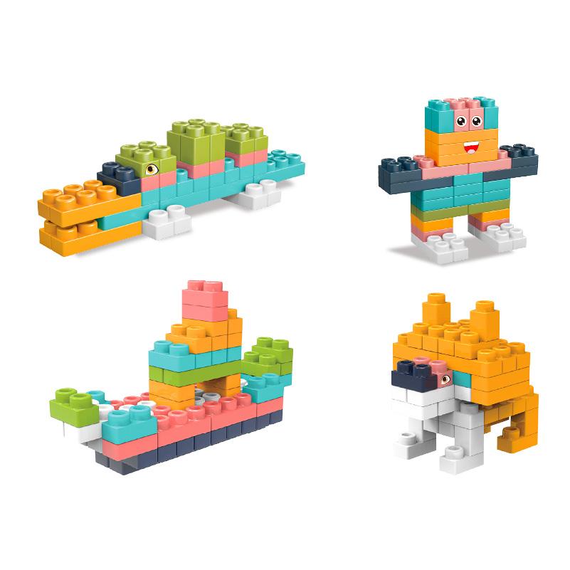 Giocattoli puzzle con blocchi morbidi per la costruzione del cervello per i più piccoli