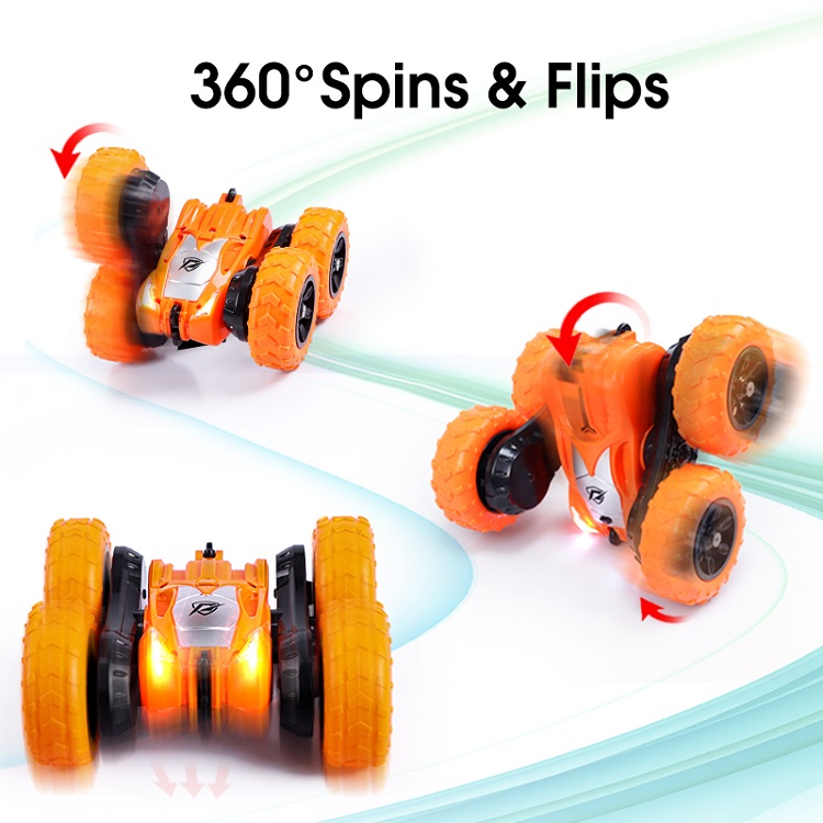360 spin double side remote car toy
