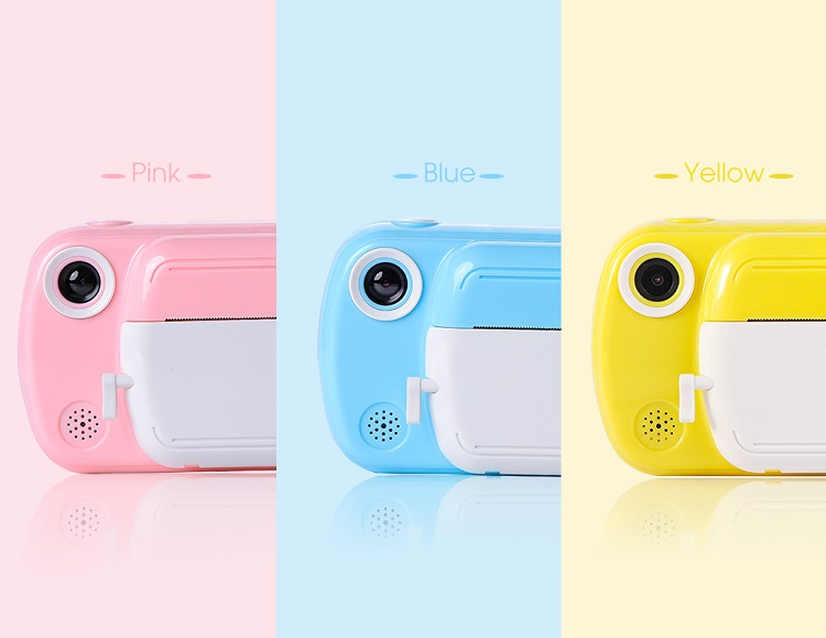 toy camera with cartoon stickers