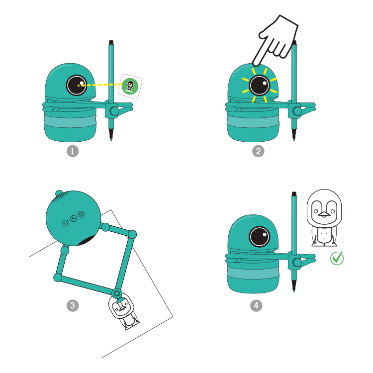 Quincy drawing robot toy