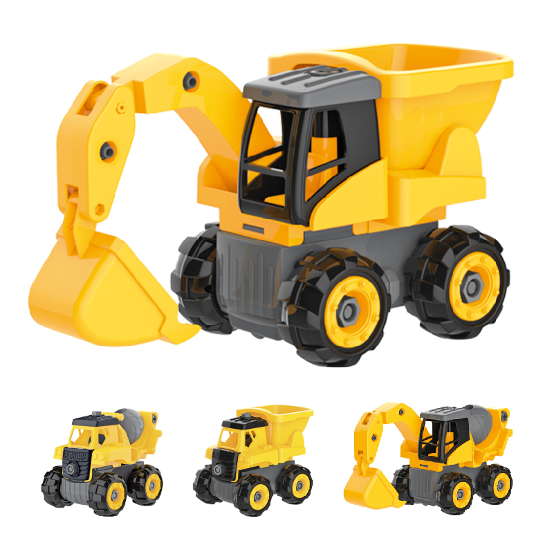 4 In 1 DIY truck assembly toys rc take apart construction vehicles with electric drill