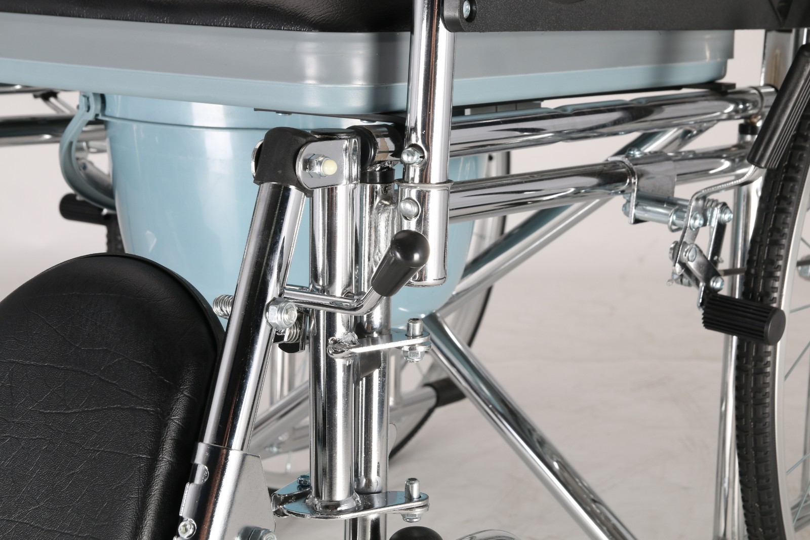 high back commode wheelchair